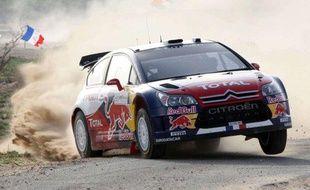 Le pilote français de rallye Sébastien Loeb, vainqueur en Jordanie, le 3 avril 2010.