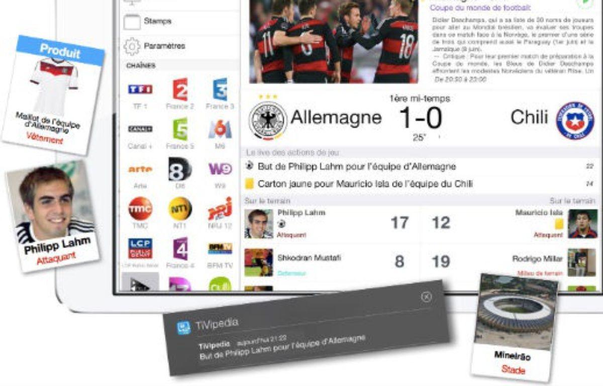 Avec TiVipedia, complétez vos soirées matchs avec des informations contextuelles lors de chaque rencontre. – TiViPEDIA