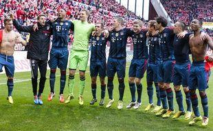 Les joueurs du Bayern Munich le 22 mars 2014 à Mayence.
