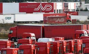 La base logistique de Norbert Dentressangle près de Saint-Rambert d'Albon le 3 mars 2015