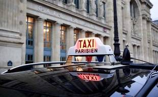Illustration taxi parisien.