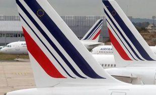 Des avions d'Air France sur le tarmac de l'aéroport de Roissy Charles De Gaulle