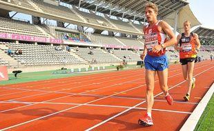 Bertrand Moulinet aux championnats de France d'athlétisme en 2013.