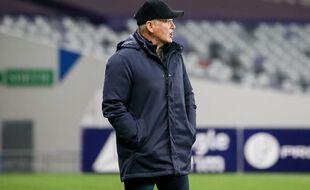 Patrice Garande, l'entraîneur du TFC, lors du match du huitième tour de Coupe de France contre Niort, le 20 janvier 2021.