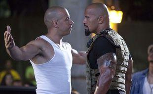 Vin Diesel et Dwayne Johnson dans «Fast and Furious 5»