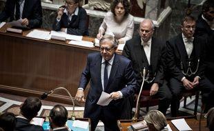 Le ministre de la Cohésion des territoires Jacques Mézard, le 25 octobre 2017 à l'Assemblée.