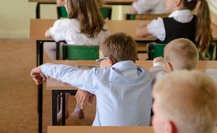 Un élève en classe.