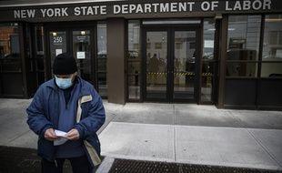 Un centre de demandeurs d'emplois à New York, le 25 mars 2020.