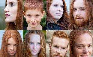 L'exposition présente une série de portraits de 30 personnes rousses.