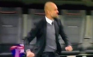 L'entraîneur du Bayern Munich Pep Guardiola, le  29 avril 2015, contre Dortmund.