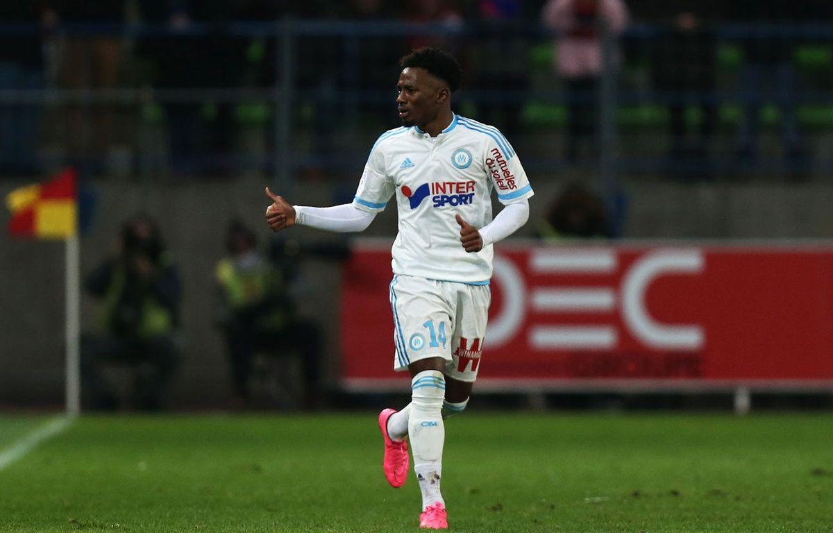 Georges-Kevin Nkoudou lors du match entre Caen et l'OM le 17 janvier 2016. – CHARLY TRIBALLEAU / AFP