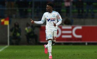 Georges-Kevin Nkoudou lors du match entre Caen et l'OM le 17 janvier 2016.