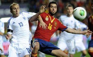 L'Espagne de Sergio Busquets a été tenu en échec par la Finlande (1-1).