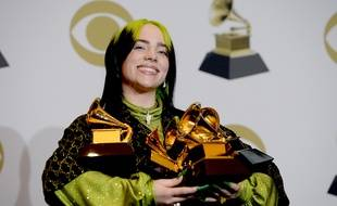 Billie Eilish aux Grammy Awards, le 26 janvier 2020 à Los Angeles.