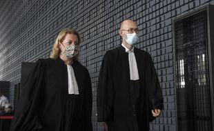 Cécile de Oliveira et Olivier Pacheu, avocats des parties civiles.