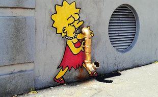 L'une des oeuvres du street artist montpelliérain Efix