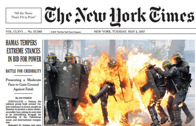 La Une du New York Times