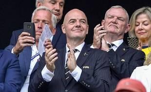 Gianni Infantino lors de la demi-finale de la Coupe du monde entre les Pays-Bas et la Suède, le 3 juillet 2019 à Lyon.