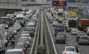 Embouteillages sur le périphérique de Toulouse.