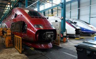 Le technicentre Le Landy en Seine-Saint-Denis, où a lieu notamment la maintenance des Thalys et des Eurostar.