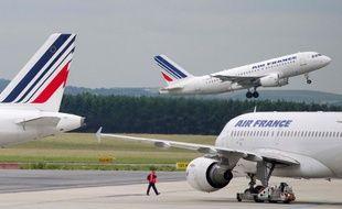 Des avions Air France sur le tarmac de Roissy-Charles de Gaulle.