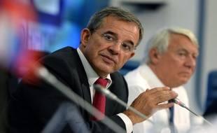 Thierry Mariani (UMP) lors d'une conférence de presse organisé par l'association Dialogue Franco-Russe à Moscou, le 11 septembre.