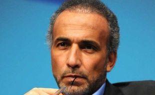 L'islamologue Tariq Ramadan, en janvier 2012 à Nantes.