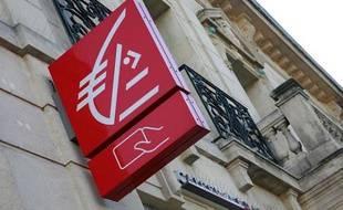 Une agence Caisse d'Epargne à Marignane, le 20 janvier 2011.