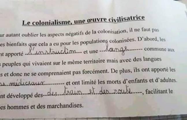 Extrait d'une leçon proposé à une classe de CM2 d'une école à Nantes.
