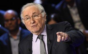 Jacques Cheminade lors du débat présidentiel du 20 mars 2017.