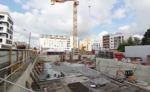 Illustration d'un programme immobilier en construction à Rennes.