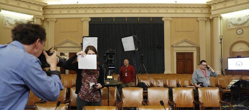 C'est dans cette salle du Congrès que vont se tenir les auditions publiques de l'enquête d'impeachment qui vise Donald Trump à partir du 13 novembre 2019.
