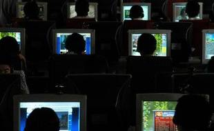 Un cyber café chinois