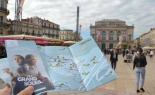 La carte réalisée par l'office de tourisme de Montpellier qui réunit les lieux de tournage d'Un si grand soleil