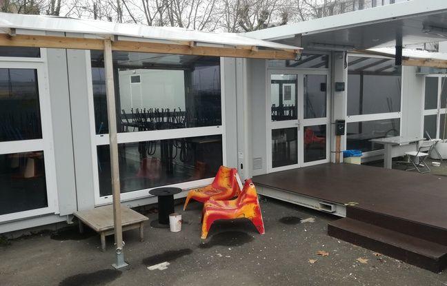 La cour du restaurant social Pierre-Landais, sur l'île de Nantes.