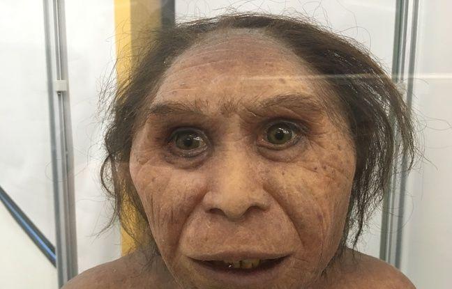 Une reproduction d'une femme néandertalienne, à découvrir à l'exposition Néandertal à Pierresvives.