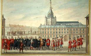 Procession avec l'échevinage et le maire, 1729