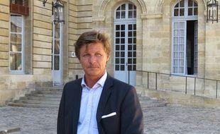 A Bordeaux, le 22 septembre 2014, Nicolas Florian repond aux critiques de l'opposition socialiste sur le parking des Grands Hommes.