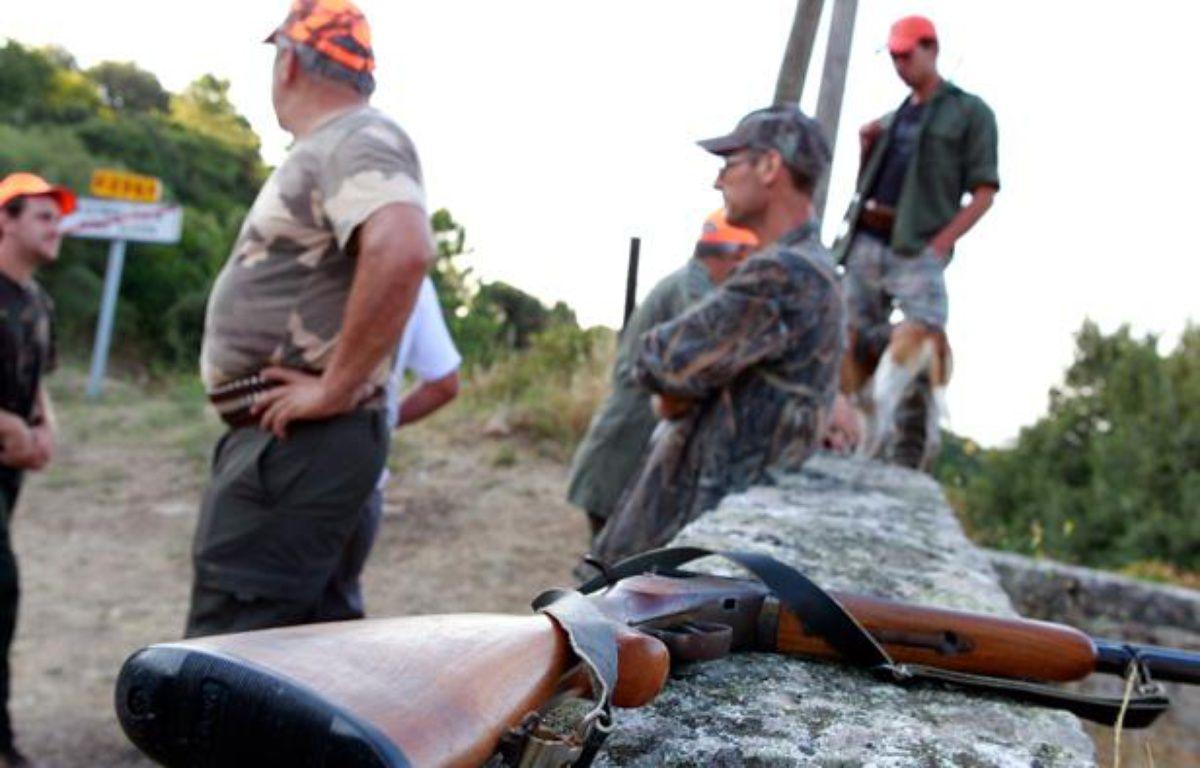 Illustration de chasseurs. – P. POCHARD-CASABIANCA/AFP PHOTO