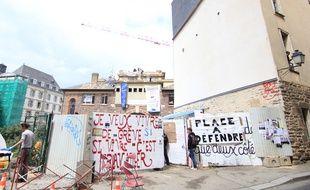 La salle de la Cité à Rennes avait été occupée au printemps 2016 par des opposants à la loi Travail.