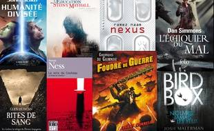 Une sélection de livres de sf et d'ouvrages fantastiques.