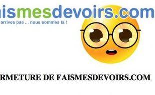 Le site faisdevoirs.com a fermé boutique dès le lendemain de son lancement, le 6 mars 2009.