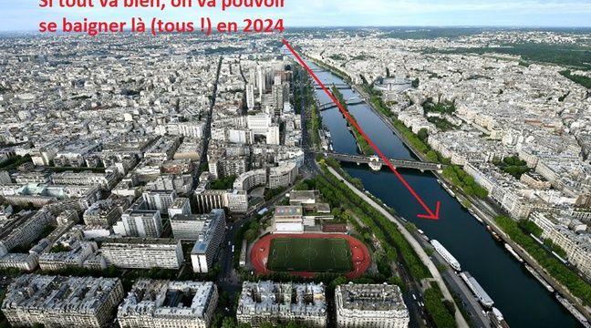 La Seine et Paris vus depuis le 3e étage de la Tour Eiffel.  – FRANCK FIFE / AFP