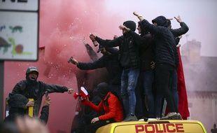 Des supporters de Liverpool avant le match contre la Roma.