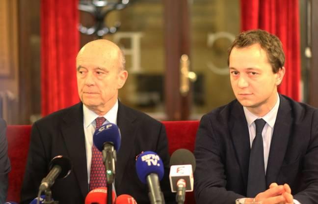 Alain Juppé et Maël de Calan (Les Républicains) à Bordeaux le 5 décembre 2017.