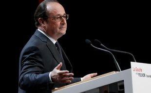 François Hollande lors de son discours à la fondation Jean-Jaures le 3 mai 2016 à Paris