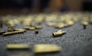 Des douilles au sol durant une convention de la NRA, aux Etats-Unis.
