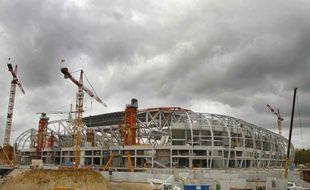Le Grand Stade de Villeneuve d'Ascq, lors de sa construction.
