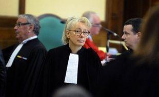 Liliane Glock, avocate de Francis Heaulme, à la cour d'assises de Metz (Moselle), le 31 mars 2014.