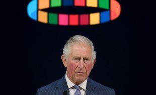 Une photo du prince Charles opportunément placé sous un halo coloré lors de sa conférence à Davos, le 22 janvier 2020.